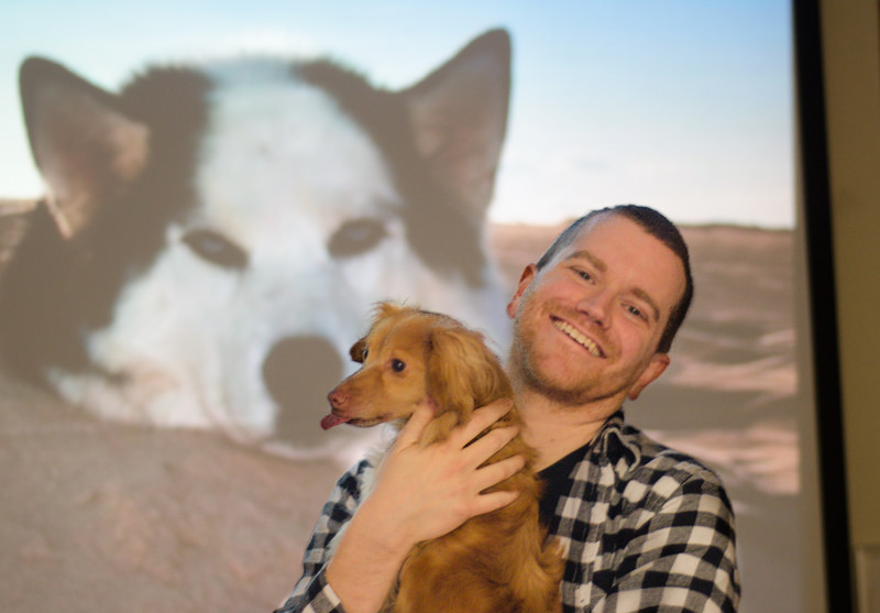Channing and Dog